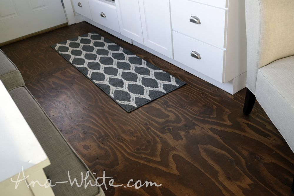 Stained Ply Floor - Ana White on Pinterest